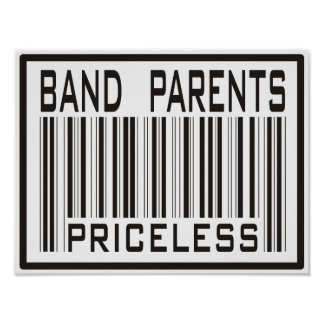 Band Parent Priceless Poster