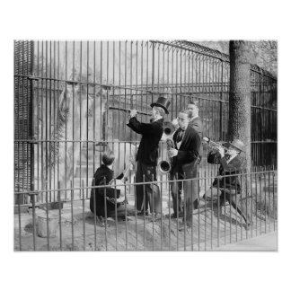 Band Playing Concert For Bears, 1925 Posters