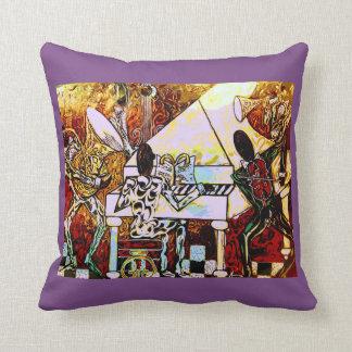 Band playing Jazz music at mardi gras jazz pillow