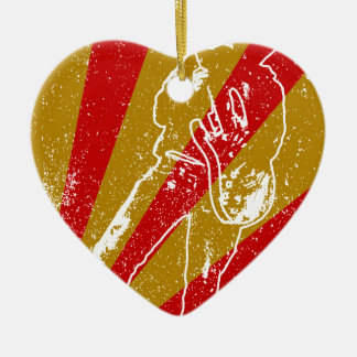 Band Poster Background Ceramic Heart Decoration