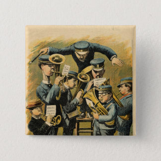 Band rehearsal 15 cm square badge