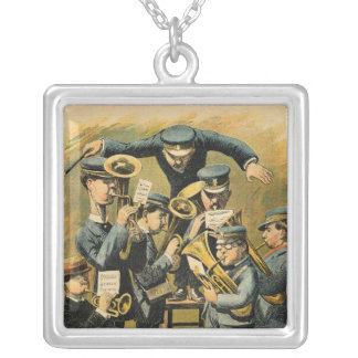 Band rehearsal silver plated necklace