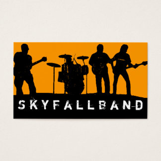 Band, Rock, Singers Performance Entertainment Business Card
