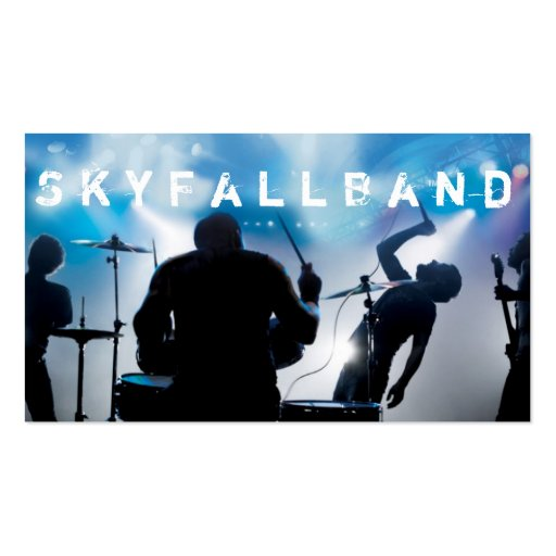 Band, Rock, Singers Performance Entertainment Business Cards