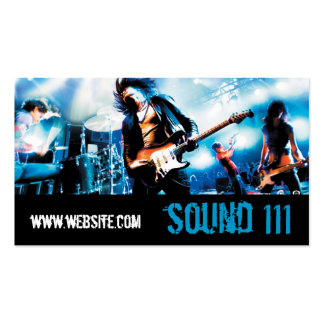 Band Rock Singers Performance Entertainment cool Business Card