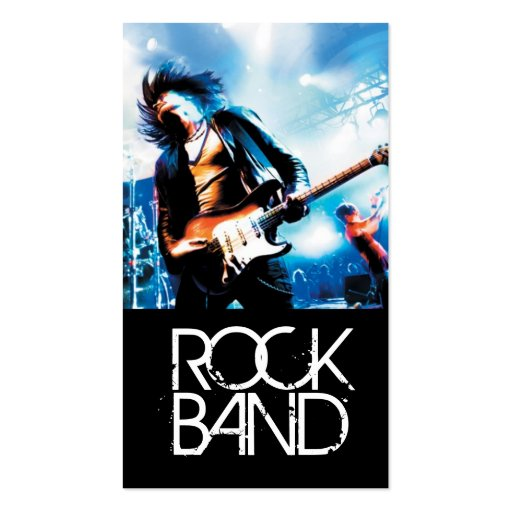Band Rock Singers Performance Entertainment cool Business Card Template