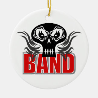 Band Skull Christmas Ornament