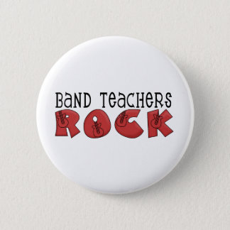 Band Teachers Rock Tshirts and Gifts 6 Cm Round Badge