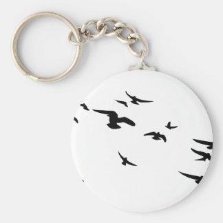 Bandada Aves Llavero Personalizado