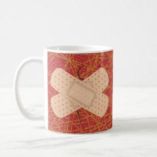 Bandage On A Crack Basic White Mug