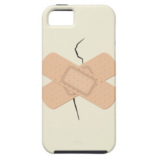 Bandage On A Crack iPhone 5 Cover