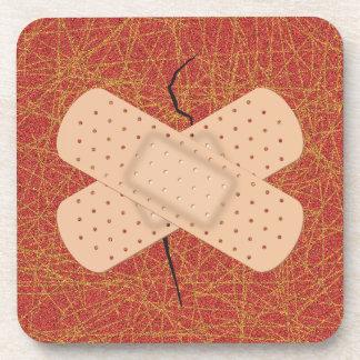 Bandage On A Crack Coaster