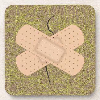 Bandage On A Crack Drink Coaster