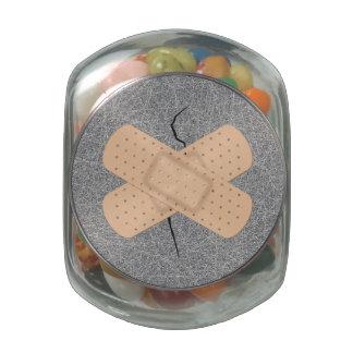 Bandage On A Crack Jelly Belly Candy Jar