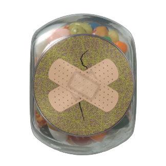 Bandage On A Crack Glass Candy Jars