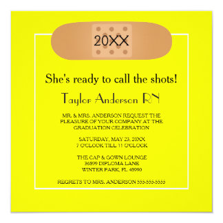 Bandaid Nursing School Graduation Invitation