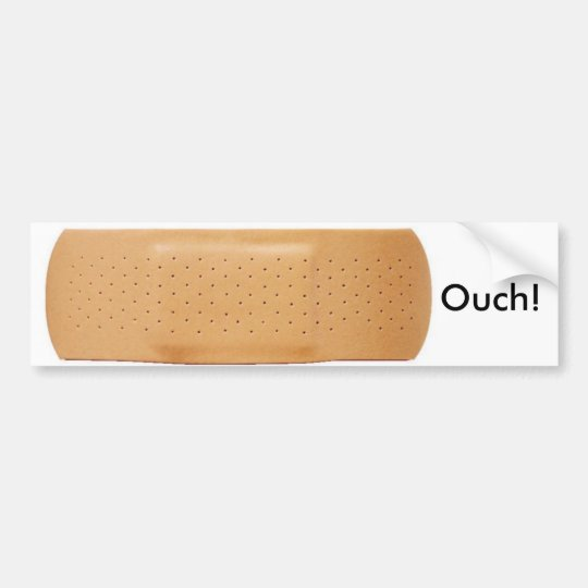 bandaid, Ouch! Bumper Sticker
