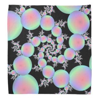 Bandana  Ball Pink and Turquoise Balloon Spiral