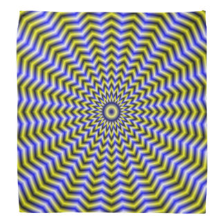 Bandana  Blue and Yellow Zigzag Ripples