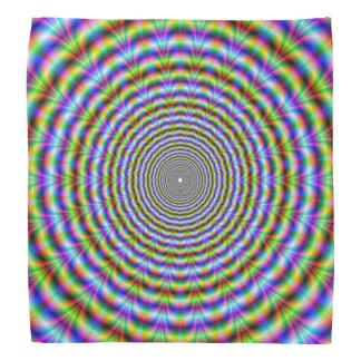 Bandana  Circular Psychedelic Neon Ripples