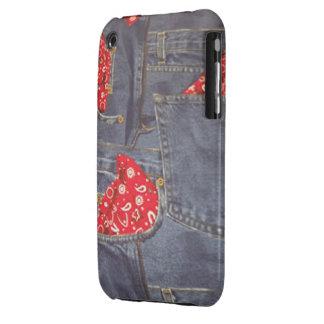 Bandana Faded Denim Jeans Case-Mate iPhone 3G/3GS iPhone 3 Case