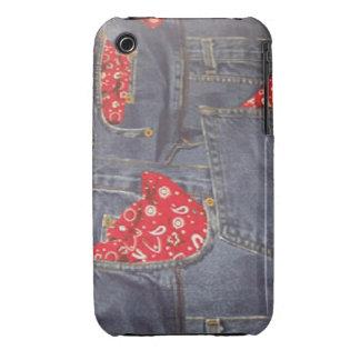 Bandana Faded Denim Jeans Case-Mate iPhone 3G/3GS iPhone 3 Case-Mate Case