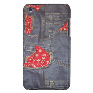 Bandana Faded Denim Jeans iPod Touch Barely There iPod Cover