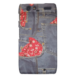 Bandana Faded Denim Jeans Motorola Droid RAZR Droid RAZR Covers