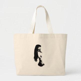 bandana girl jumbo tote bag