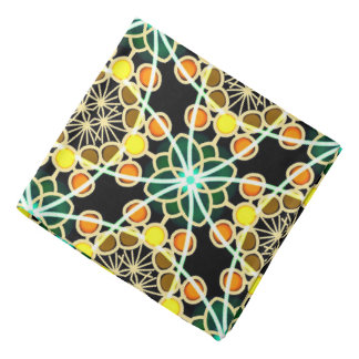 Bandana Jimette black orange yellow Design green