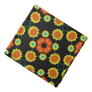 Bandana Jimette black yellow orange Design blue