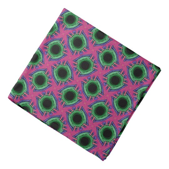 Bandana Jimette Design blue green and pink