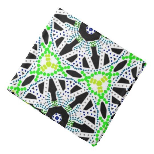Bandana Jimette Design made of black green on