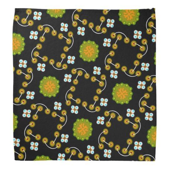 Bandana Jimette Design made of yellow, green and