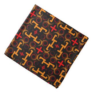 Bandana Jimette Design orange and red on black