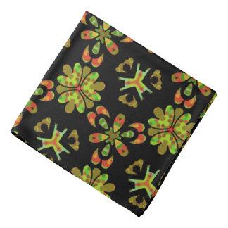 Bandana Jimette green yellow orange Design on