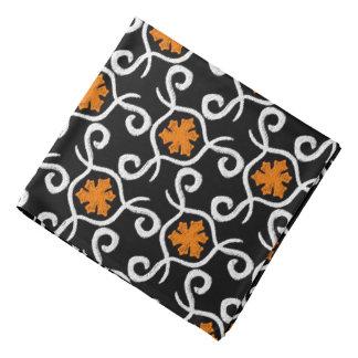 Bandana Jimette orange and white Design on black