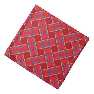 Bandana Jimette red and blue orange Design