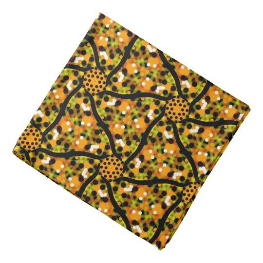Bandana Jimette white and green Design orange