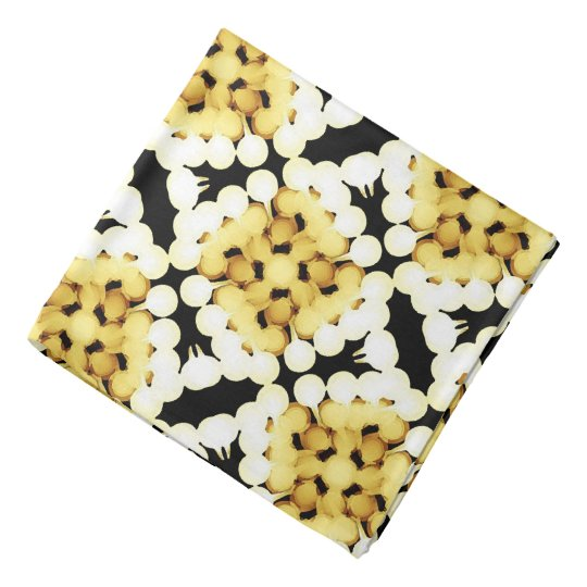 Bandana Jimette yellow and white Design on black