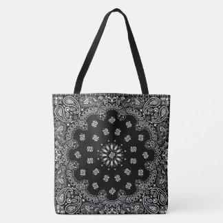 bandana paisley totebag black_A Tote Bag
