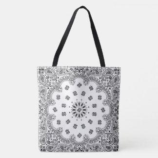 bandana paisley totebag white_A Tote Bag
