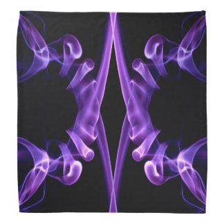 Bandana purple abstract smoke design pattern