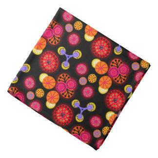 Bandana red Jimette Design orange black lilac