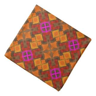 Bandana red Jimette orange Design and fuchsia