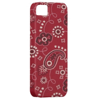 Bandana Red Paisley iPhone 5 Case