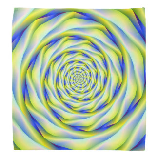 Bandana  Vortex in Blue and Yellow