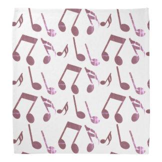 Bandana with music note symbols pattern
