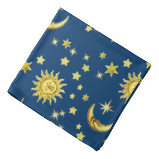 Bandana with Sun, Moon & Stars
