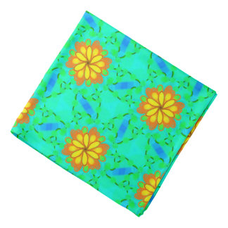 Bandana yellow Jimette orange blue Design green